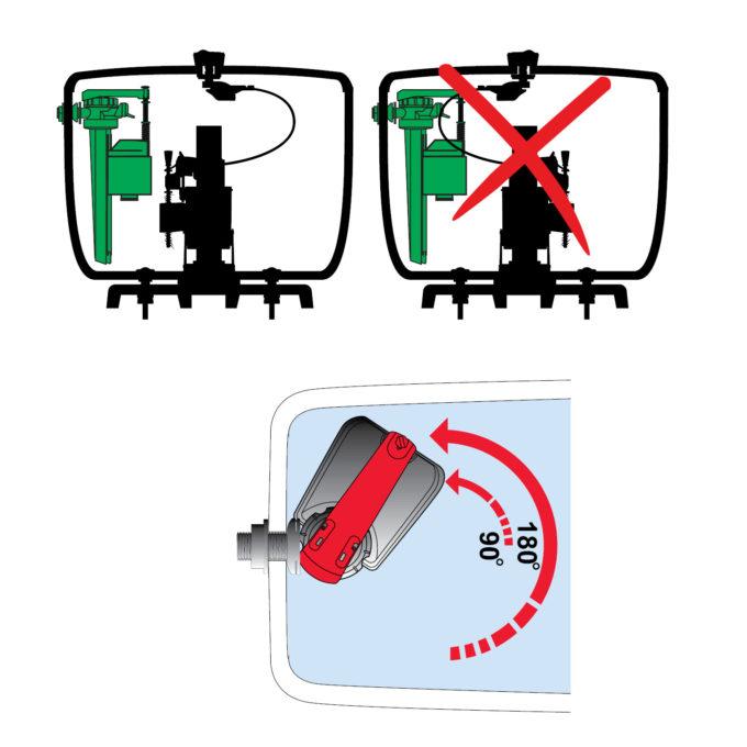 UNIVERSAL Dual Flush Kit 2 inch, CC SISO – MW2 ext Flush + Jollyfill SI