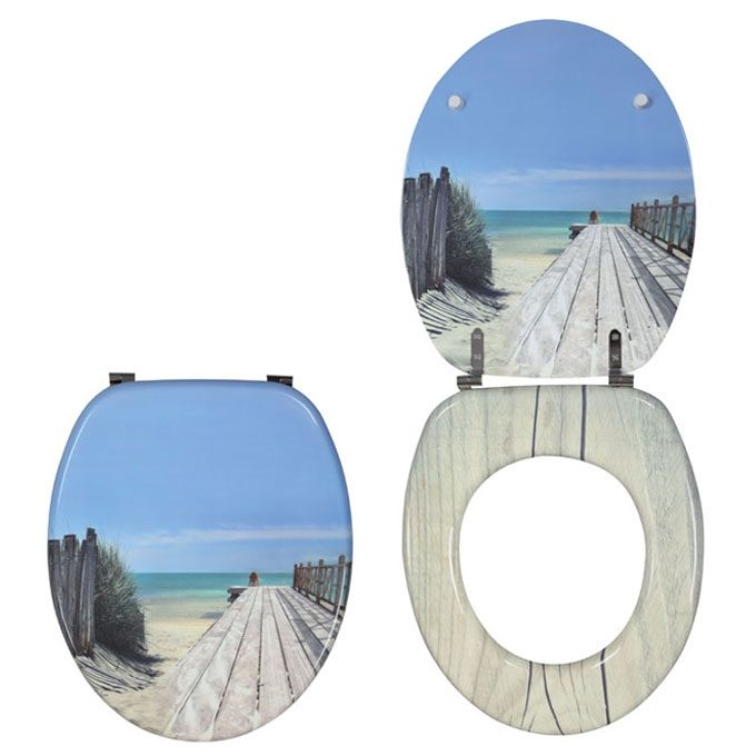 HOLIDAY BEACH – TRENDY LINE Toilet Seat – MDF, SS Hinge