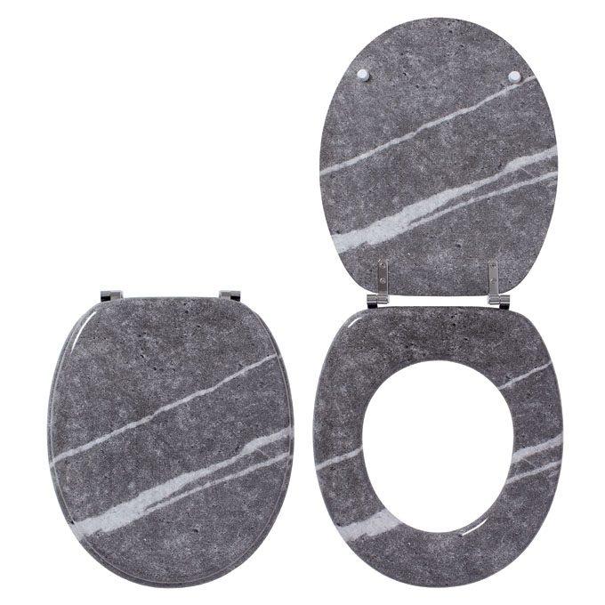 MARBLE – TRENDY LINE Toilet Seat – MDF, SS Hinge