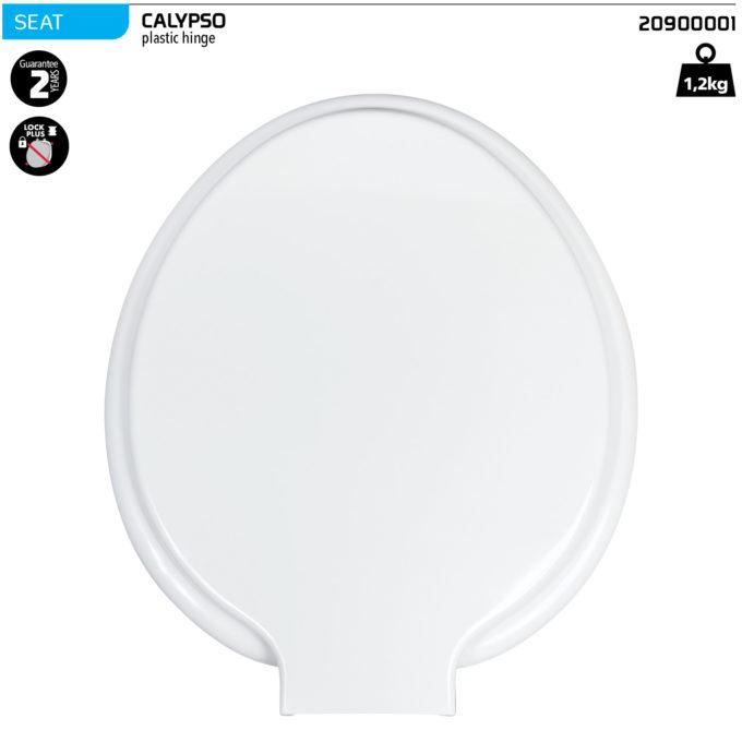 Calypso Toilet Seat – Plastic hinge