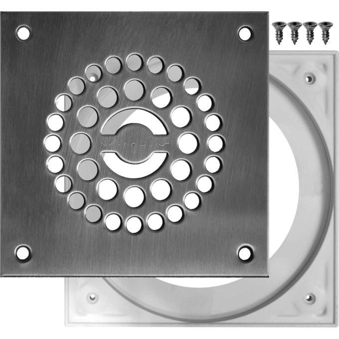 Tourbillon D90mm Stainless Steel Shower Plate Set + Screws