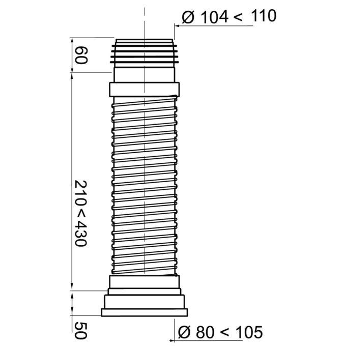 Jollyflex Long FLEXIBLE pan connector