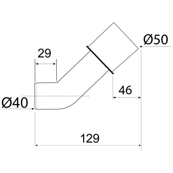 Fitting Adaptor Angular 40 x 50 mm