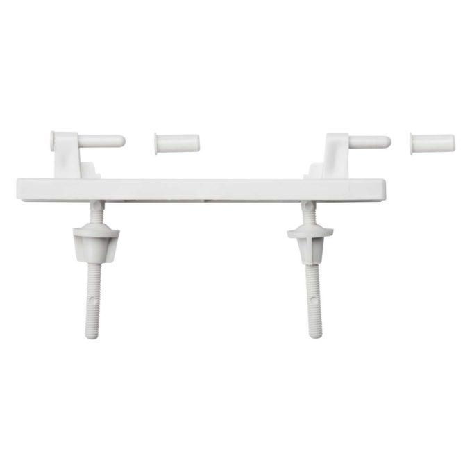 Hinge Set – CLUB Toilet Seat – WHITE (Plastic)