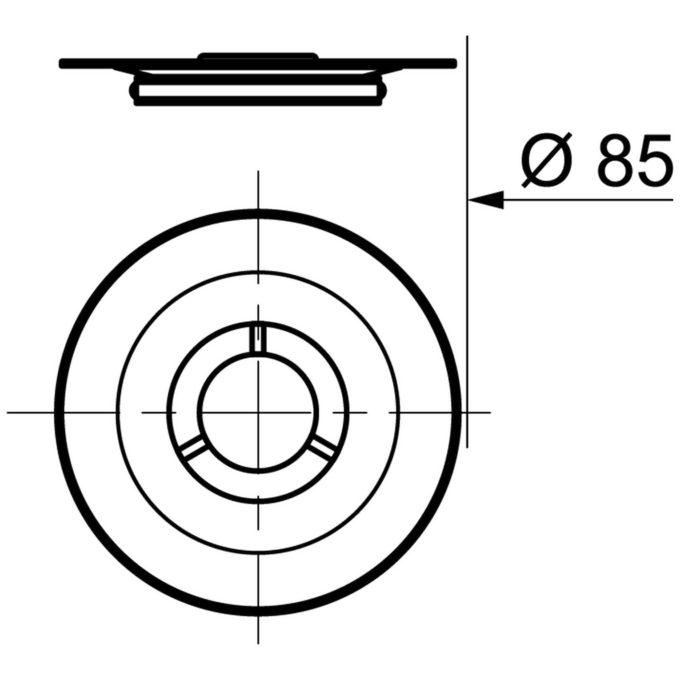 Tourbillon D60mm Round Chrome Grid