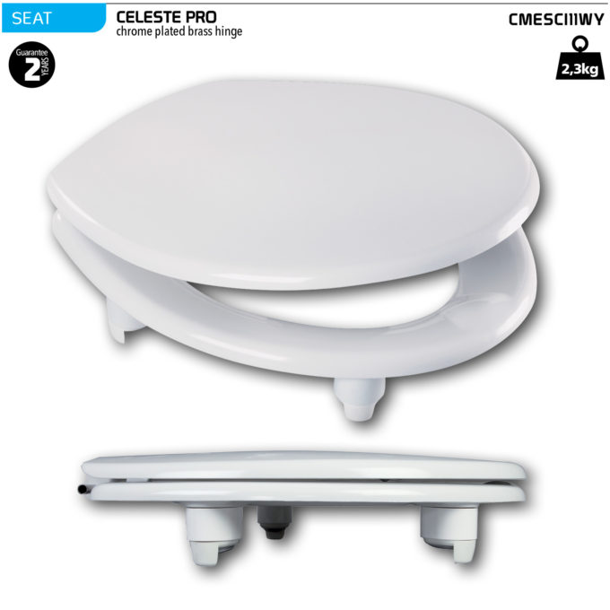 Celeste Pro Toilet Seat – CP brass hinge