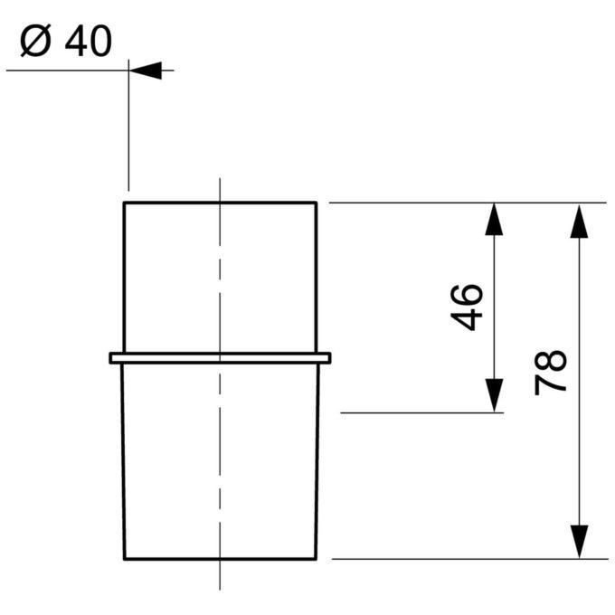 Plastic Male End D 40mm Screw