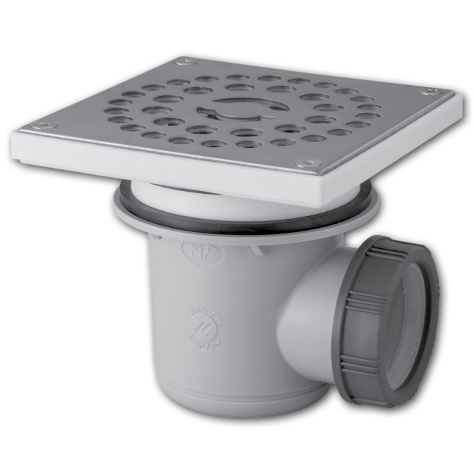 Tourbillon Square D60 Shower Waste – stainless steel grid