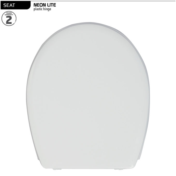 Neon Lite Toilet Seat –  Plastic hinge