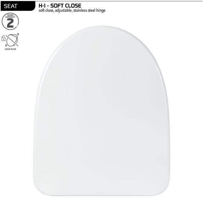 H-1 Toilet Seat – Soft Close SS hinge
