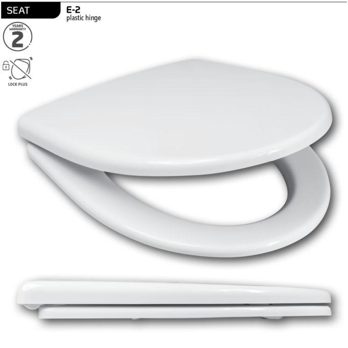 E-2 Toilet Seat – Plastic hinge