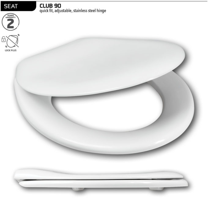 Club 90 Toilet Seat – SS hinge