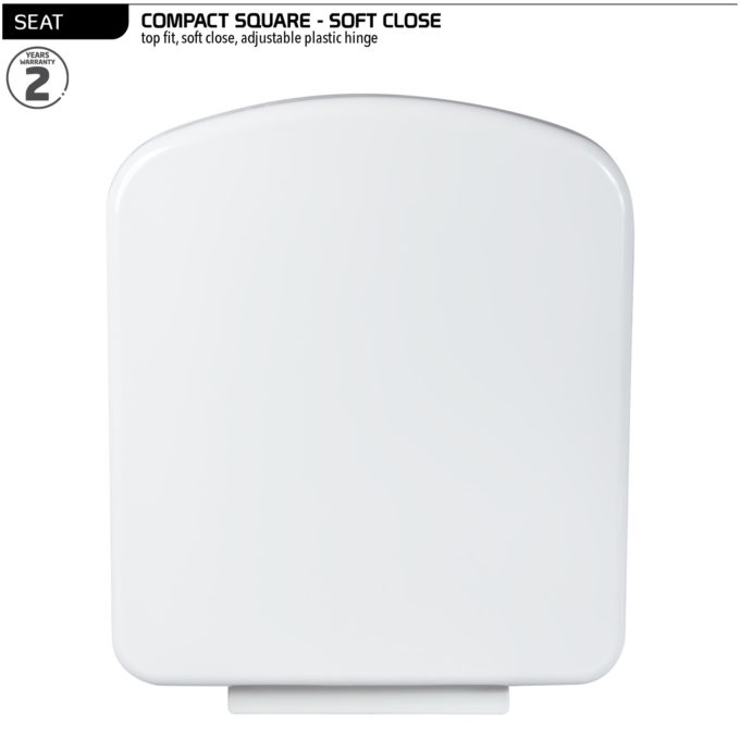 Compact Square Toilet Seat – Soft Close hinge