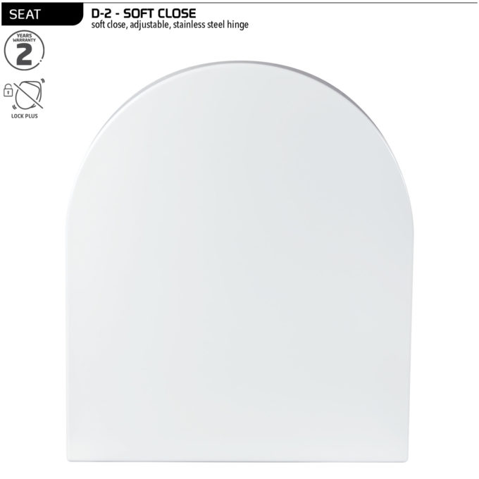 D-2 Toilet Seat – Soft Close SS hinge