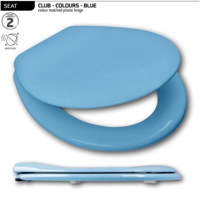 Club Toilet Seat – Blue – Plastic hinge