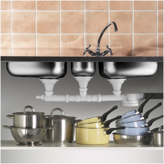 Espace Triple Bowl Sink Trap